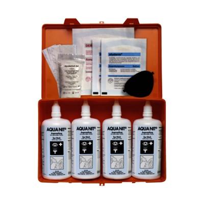 Söhngen® AQUA NIT® Augenspülung | Box mit 4 Flaschen á 250 ml | inkl. Sofortset Augenverletzungen