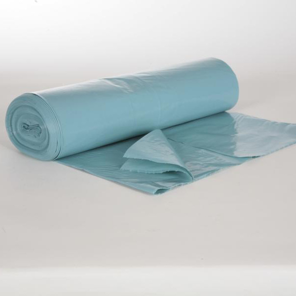 Rolle Müllsäcke 120 Liter, T 60 33µ blau LDPE, 700 x 1100 mm | 25 Stück/Rolle