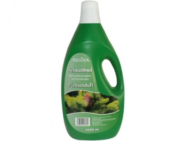 4 Liter Badezusatz: Schaumbad Fichtenduft | Griffflasche, wohltuend, erfrischend