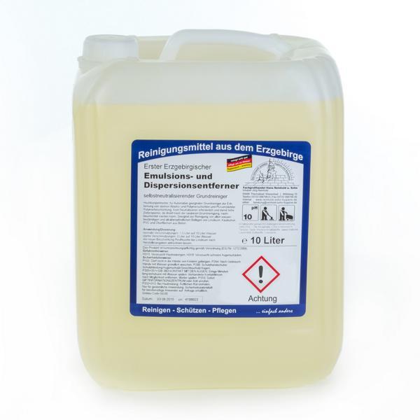 10 Liter Erster Erzgebirgischer Emulsions- und Dispersionsentferner   selbstneutralisierend