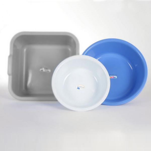 Rundschüssel Ø 36 cm, 7,5 Liter | Farben: weiß, granit, blau, rot