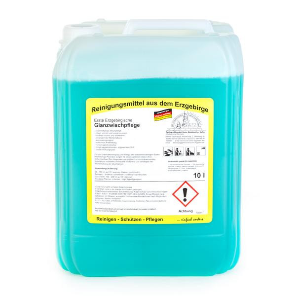 10 Liter Erste Erzgebirgische Glanzwischpflege | polymerhaltige Wischpflege mit Langzeitduft