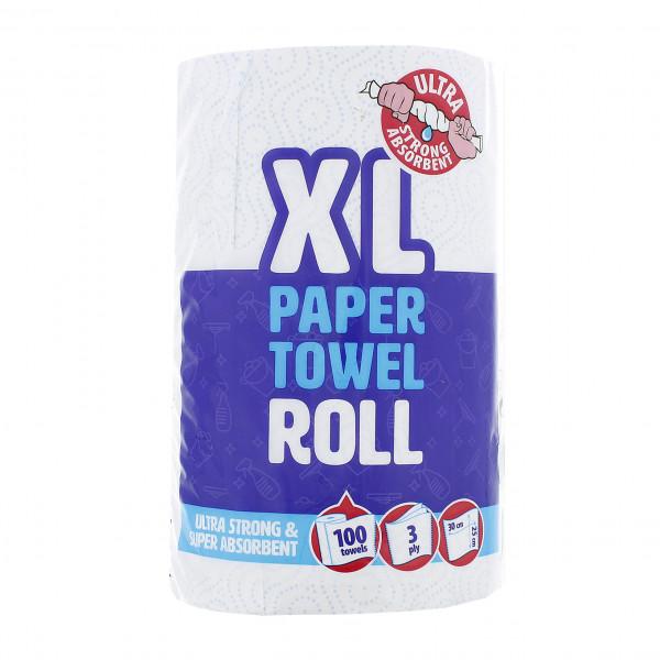 100 Blatt/Rolle Küchenrolle XL, 30 x 25 cm, 3-lagig