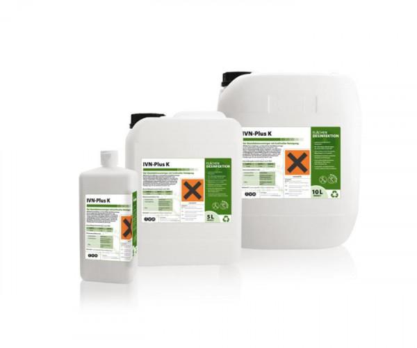 10 Liter IVN Plus K   Desinfektionsreiniger mit hoher Reinigungskraft