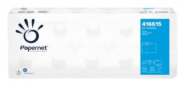 40 Rollen Toilettenpapier 2-lagig, VORTEILSGRÖSSE, weiß | 40 Rollen/Sack