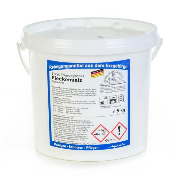 5 kg Erstes Erzgebirgisches Fleckensalz Professional | erhält die Farben und entfernt Flecken