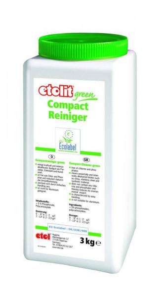 3 kg etolit® green Compactreiniger   hochkonzentrierter Geschirrreiniger