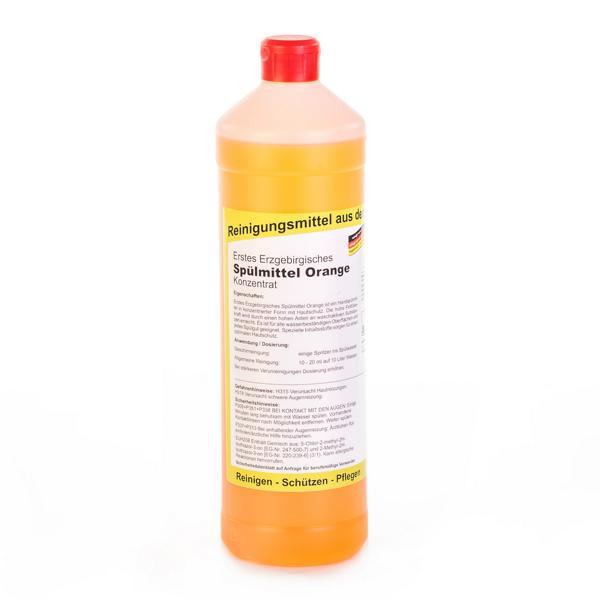 1 Liter Erstes Erzgebirgisches Spülmittel mit Orangenduft, Konzentrat, Handspülmittel mit Hautschutz