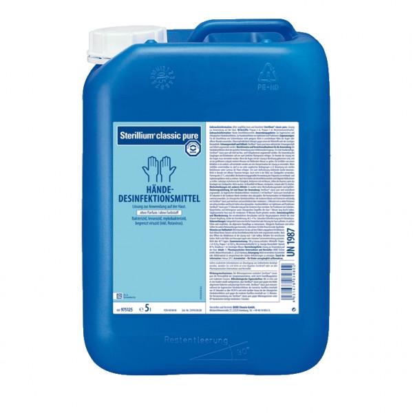 5 Liter Sterillium® classic pure Händedesinfektion farbstoff- und parfümfrei