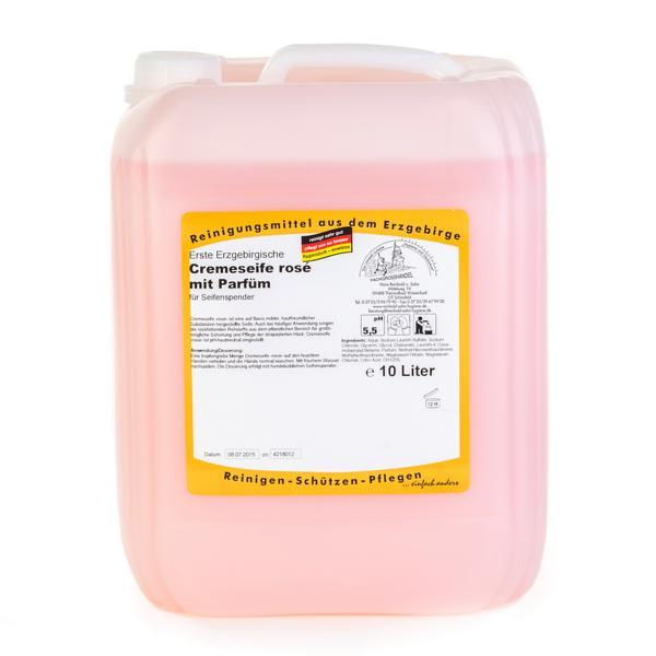 10 Liter Erste Erzgebirgische Cremeseife rosé, mit Parfüm | für leicht verschmutzte Hände