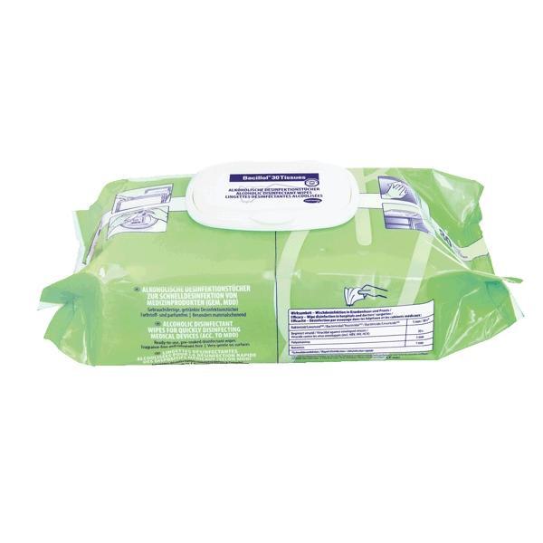 80 Tücher Bacillol® 30 Tissues, Flow Pack | alkohol- und aldehydfreie Desinfektionstücher