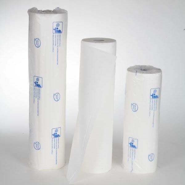 9x Ärzterollen 2-lagig, 50 cm x 50 m, SPARPACK, Zellstoff weiß, 132 Blatt/Rolle, 9 Rollen/Karton