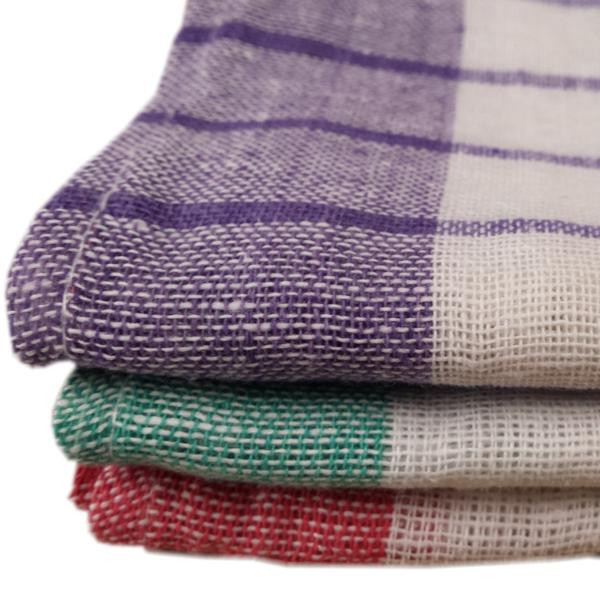 Geschirrtuch Baumwolle 50 x 70 cm, hell farbig karriert | ca. 143 g/m² | 100 % Baumwolle, kochfest