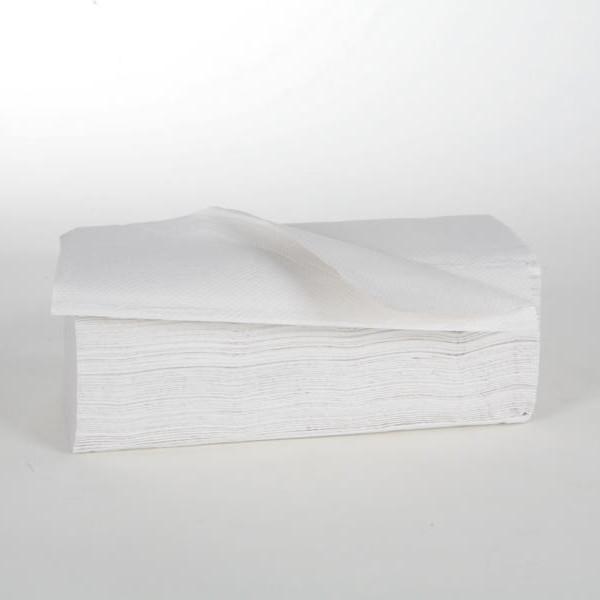 1 Karton Papierhandtücher 2-lagig, 24 x 23 cm, 3750 Blatt/Karton, 40 g/m², Zick-Zack-Falz, naturweiß