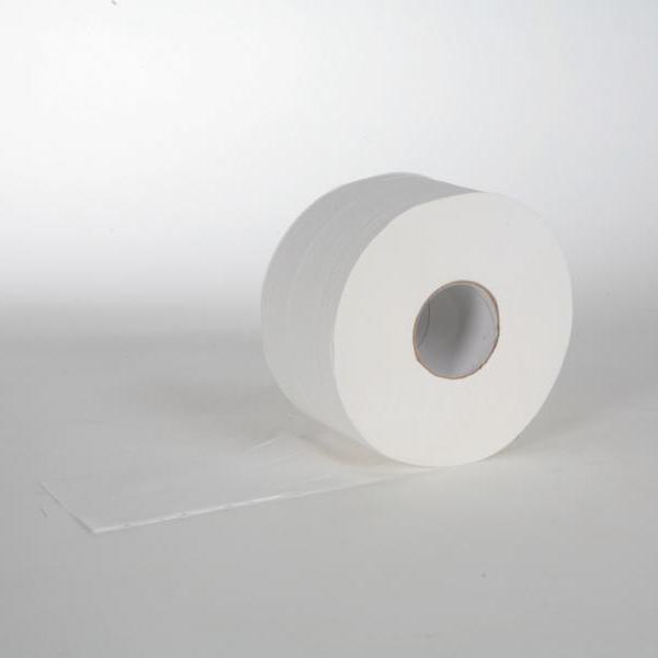 12 Rollen Toilettenpapier Großrolle á 160 m, 2-lagig, Zellstoff, weiß, 12 Rollen/Sack
