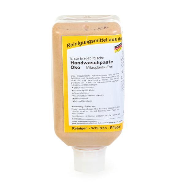 2 Liter Erste Erzgebirgische Handwaschpaste Öko | Mikroplastik-Frei, Softflasche