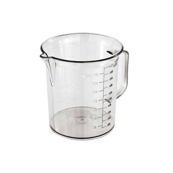 Messbecher 1 Liter mit Prägeskala | glasklar
