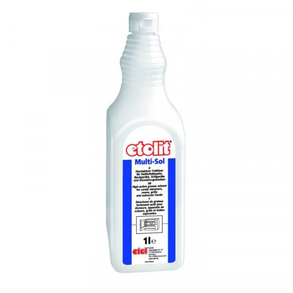 etolit® Multi-Sol | 1 Liter | Hochaktiver Fettlöser zur Reinigung von Heißluftdämpfern, Back-, Grill