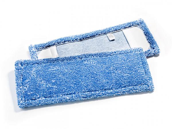 """Mikrofasermopp """"PREMIUM"""" blau/weiß meliert   50 cm   Mikrofaser Plüsch, Aufnahme: Tasche"""