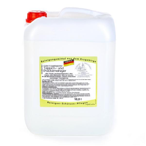 10 Liter Erster Erzgebirgischer Teppich- & Polsterreiniger | tensidfreies Konzentrat ohne Enzyme