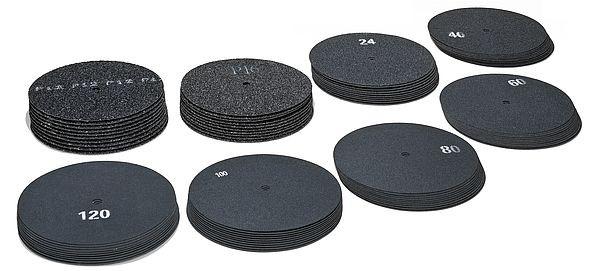Schleifpad, beidseitig, Körnung 24, Siliziumkarbid, versch. Größen (1500SP024)