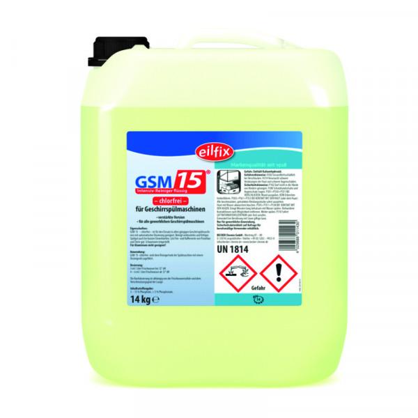 14 kg GSM 15 OC | Intensiv-Reiniger flüssig -chlorfrei- für Geschirrspülmaschinen