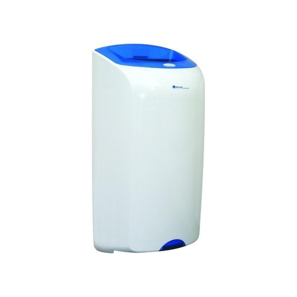 "Abfallbehälter, Wandabfallbehälter ""Merida Top"" 40 Liter   weiß/blau"