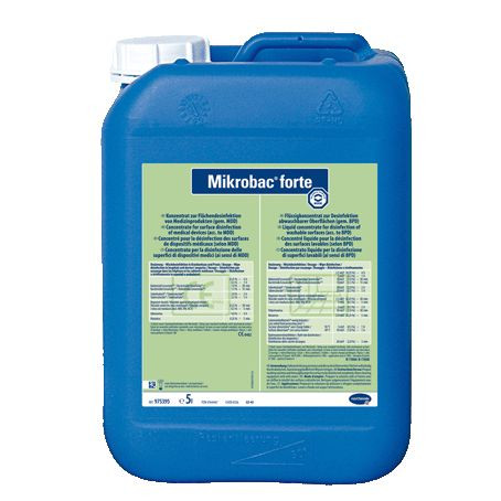 5 Liter Mikrobac® forte | aldehydfreier Flächen-Desinfektionsreiniger mit materialschonendem Schutz