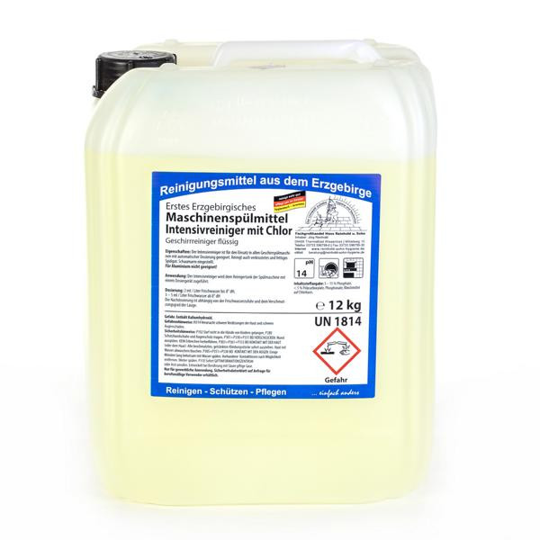 12 kg Erstes Erzgebirgisches Maschinenspülmittel Intensivreiniger mit Chlor, Geschirrreiniger