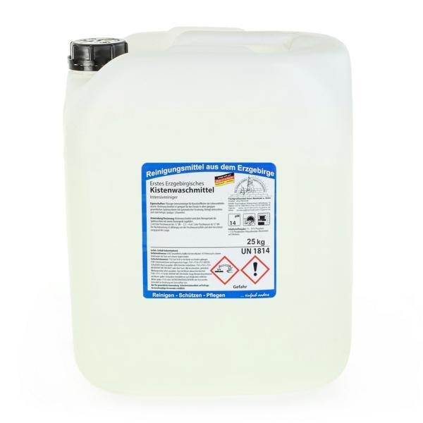 25 kg Erstes Erzgebirgisches Kistenwaschmittel | flüssiger Intensivreiniger für Kunststoffkisten