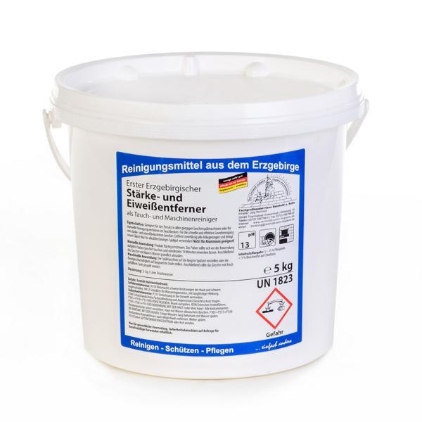 5 kg Erster Erzgebirgischer Stärke- und Eiweißentferner | Tauch- & Maschinenreiniger für Porzellan