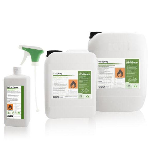 1 Liter IVN 01-Spray |gebrauchsfertige alkoholische Flächendesinfektion
