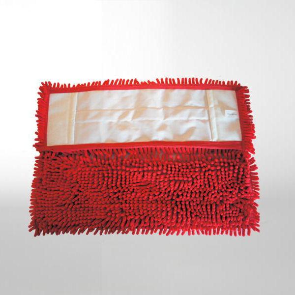 Chenille-Mopp 50 cm | Farbe: rot | Material: Mikrofaser | Aufnahme: Tasche