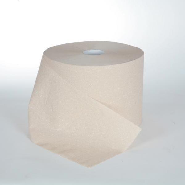 2 Rollen Papierhandtücher á 360m, 2-lagig, E-Tissue beige, perforiert, 2 Rollen/Sack