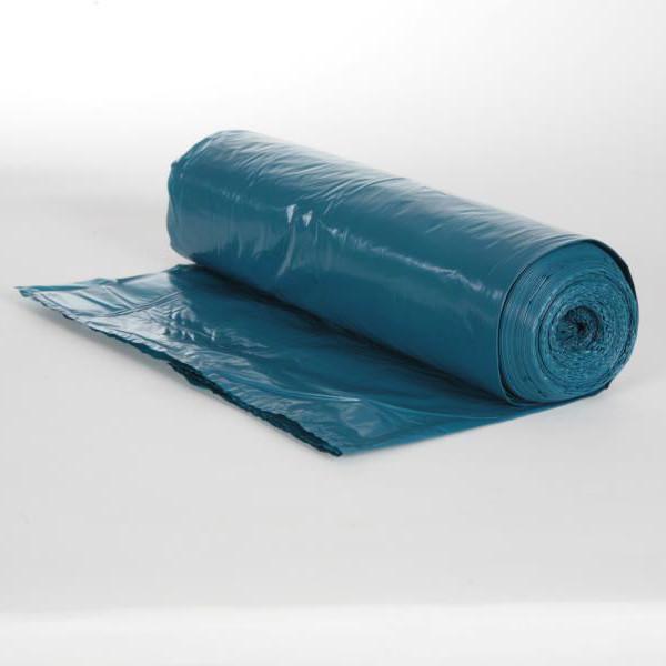 Rolle Müllsäcke 70 Liter, 25 Stück/Rolle, Typ 60 blau Premium LDPE, 575 x 1000 mm