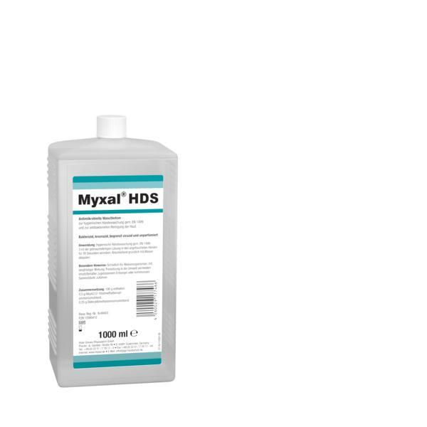 1 Liter Euroflasche MYXAL® HDS Antimikrobielle Waschlotion für Haut und Hände
