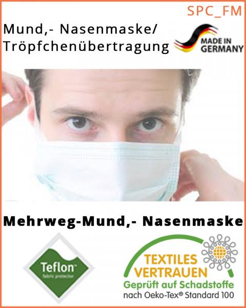 10 Stück Mundschutz, textile Mund-Nasenmaske, Behelfsmaske, 10er Pack, weiß
