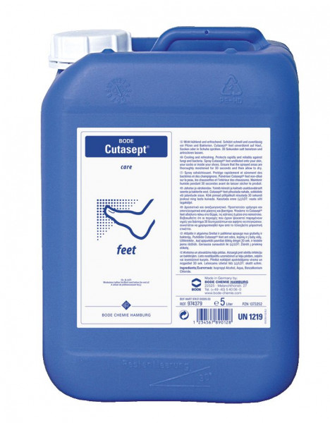 5 Liter Cutasept® feet | Vital-Fußpflege und Fußpilzprophylaxe