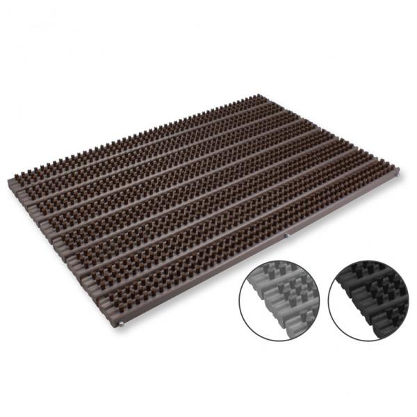 Bürstenmatte Kunststoff 49,5x32cm, PPN grau