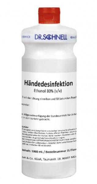 1 Liter Händedesinfektion Ethanol 80% (v/v) | Alkoholische Händedesinfektion