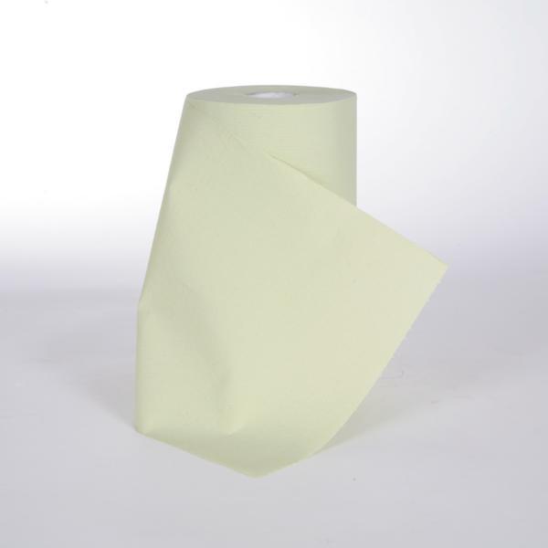 10 Rollen Papierhandtücher Putztuchrolle Außenabrollung 2-lagig, Zellstoff grün 184 Blatt/Rolle