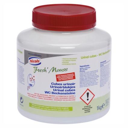 1 kg WC-Beckensteine Fresh'Mouss | reinigt und parfümiert das Pissoir