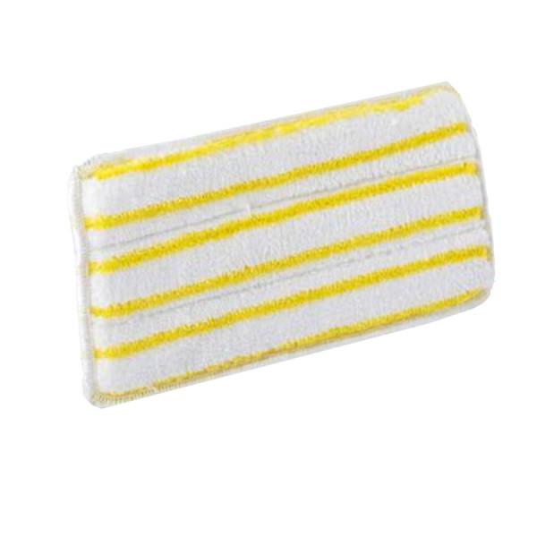 Handpad / Mikrofaserpad 13 x 27 cm | weiß mit gelben Borstenstreifen