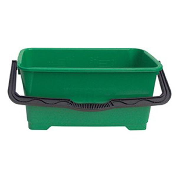 Eimer eckig 28 Liter, grün, für die Glasreinigung | QB220