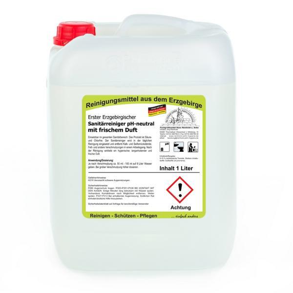 10 Liter Erster Erzgebirgischer Sanitärreiniger pH-neutral mit frischem Duft