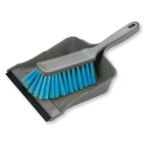 BÜMAG Kehrgarnitur mit Gummi-Lippe   grau/hellblau (sorboblau)