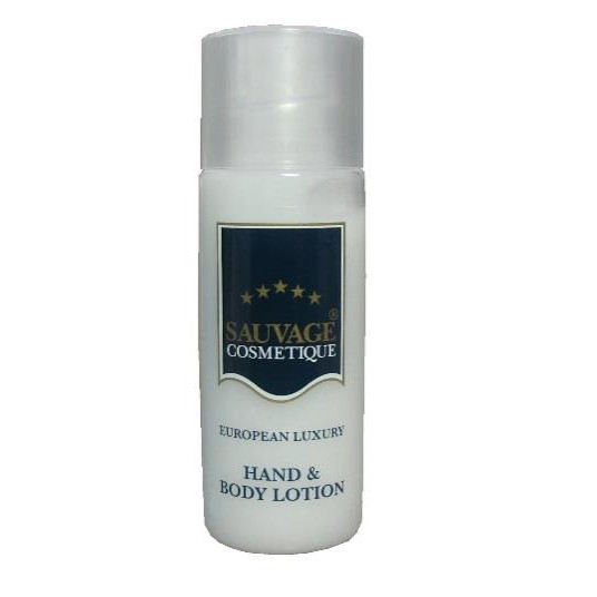 300 Stück á 35 ml Sauvage Cosmetique Hand & Body Lotion | in Hi-Cylinder-Flaschen