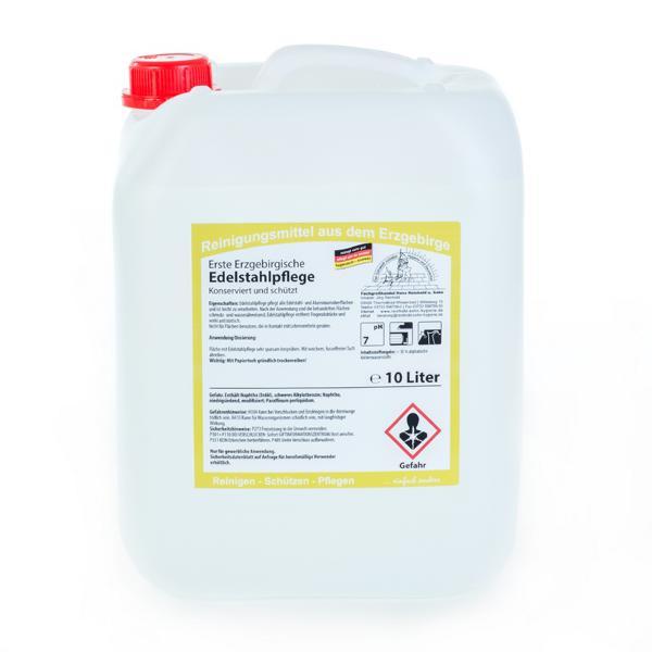 10 Liter Erste Erzgebirgische Edelstahlpflege | konserviert und schützt
