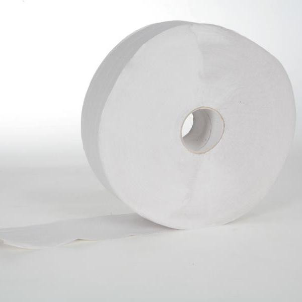 6 Rollen Toilettenpapier á 350 m, Großrolle 2-lagig, T-75 weiß, perforiert, 6 Rollen/Sack