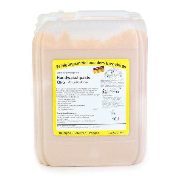 10 Liter Erste Erzgebirgische Handwaschpaste Öko | Mikroplastik-Frei, Händereinigungsmittel